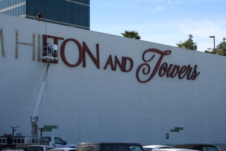 Old signage comes down