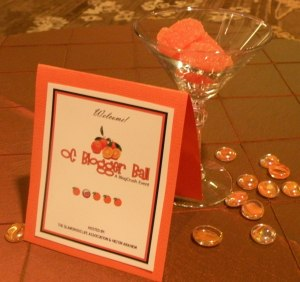 Blogger Ball Table Tent