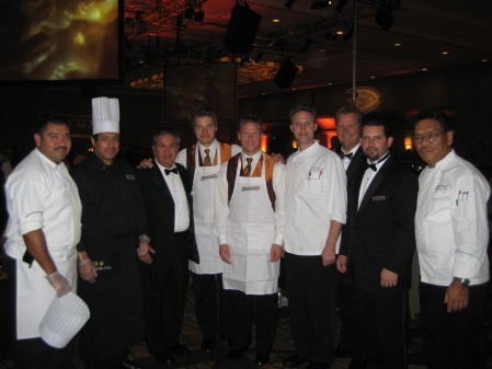 Hilton Anaheims Culinary  Banquet All Star team with Bobby Ryan Todd Marchant