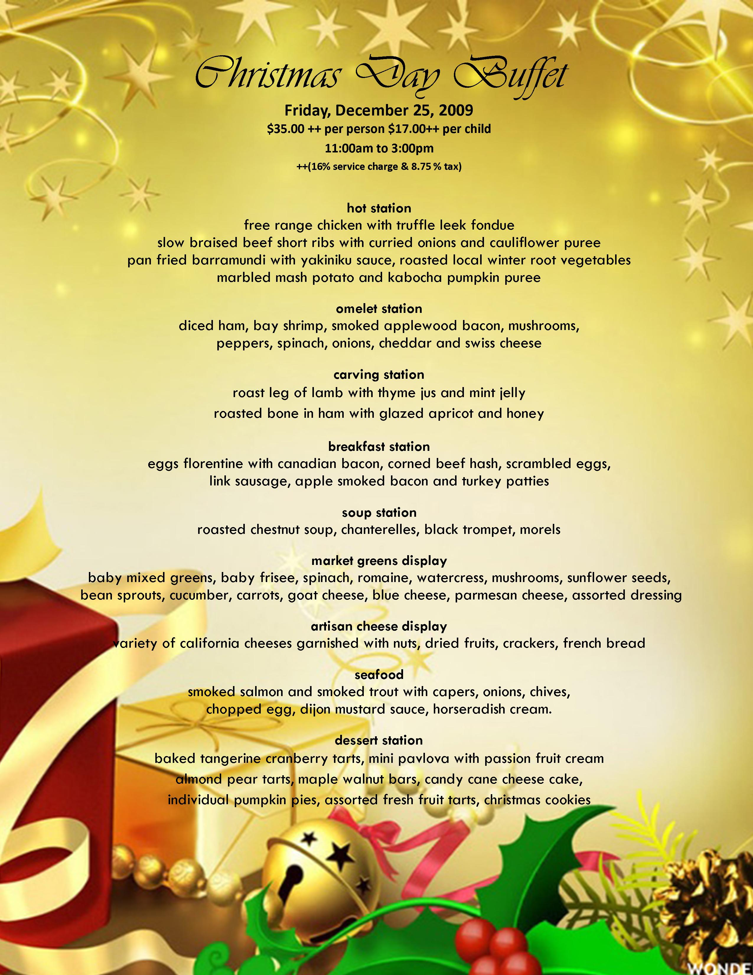Christmas eve casual buffet ideas - Advertisements