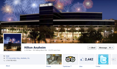 Hilton Anaheim Facebook